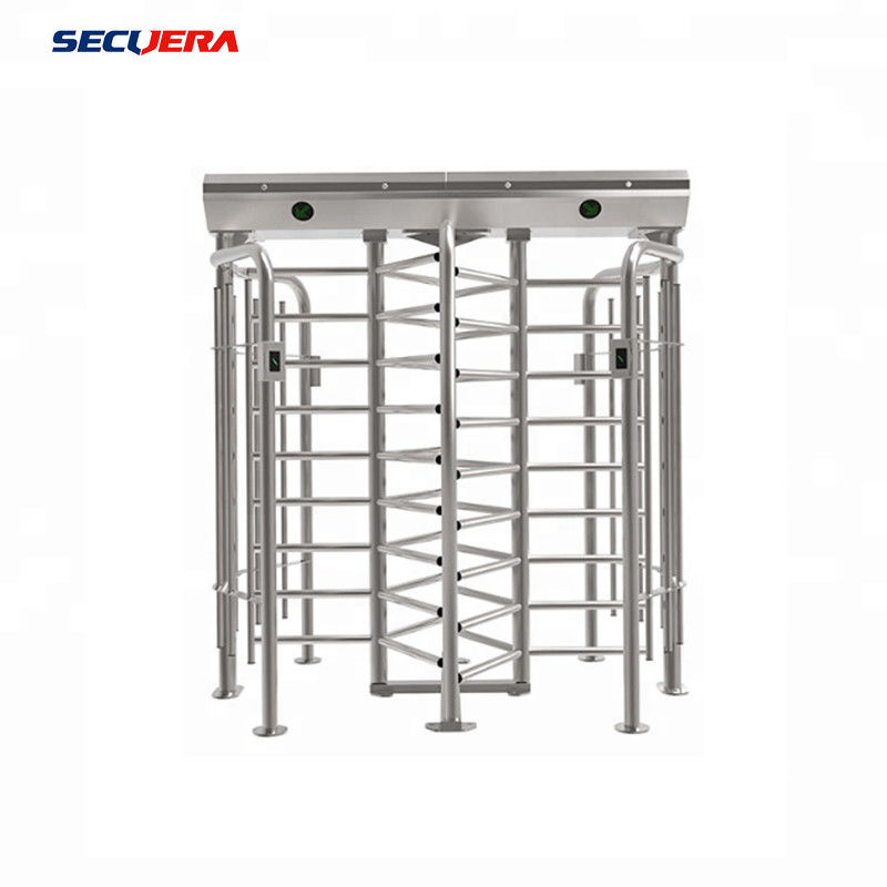 Shenzhen 120 degree double channel automatic RFID access control full height turnstile Barrier gate
