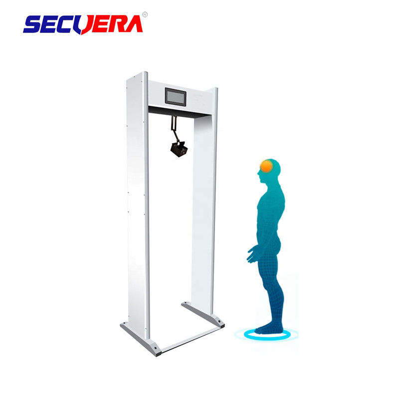 Door Frame Walk Through Metal Detector  Temperature Measurment For Supermarkets